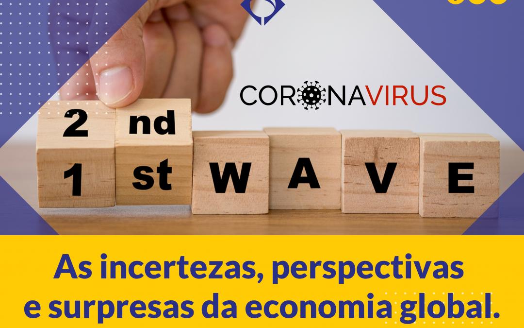 As incertezas, perspectivas e surpresas da economia global.