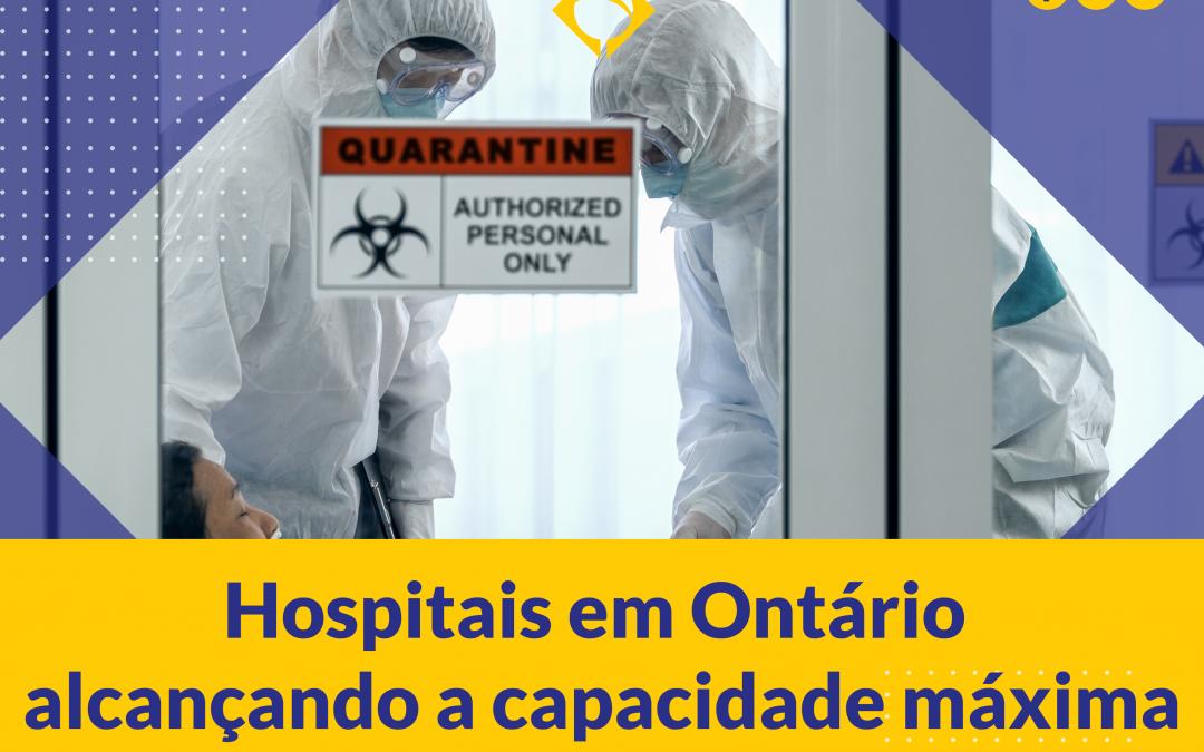 Hospitais em Ontário alcançando a capacidade máxima